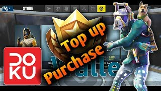Fortnite Mobile: Top Up Doku Wallet via M-Banking BRI zu Purcase V-Bucks & Unlock Battle Pass