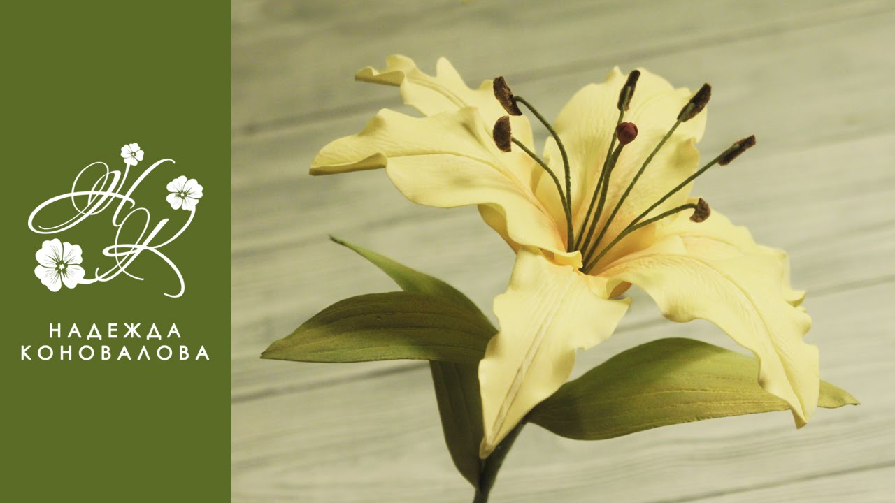 Лилия цветы пошагово