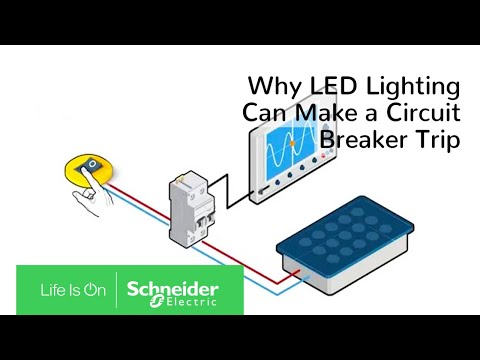 Why LED lighting can make a circuit breaker trip - YouTube