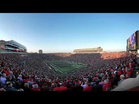 360 Video of Jet Fly Over Georgia at Notre Dame 2017