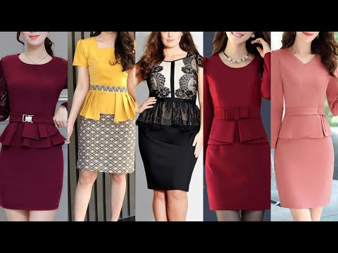 New Style Women Business Bodycon Dress With Paplum Jacket And Blouse Christmas Party Business Outfit