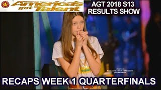 RECAPS 2 Behind the Scenes  & Dunkin Save Acts QUARTERFINALS 1 America's Got Talent 2018 AGT