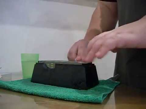 cheap chinese 4 sided sharpening system for kitchen knives does it work youtube. Black Bedroom Furniture Sets. Home Design Ideas