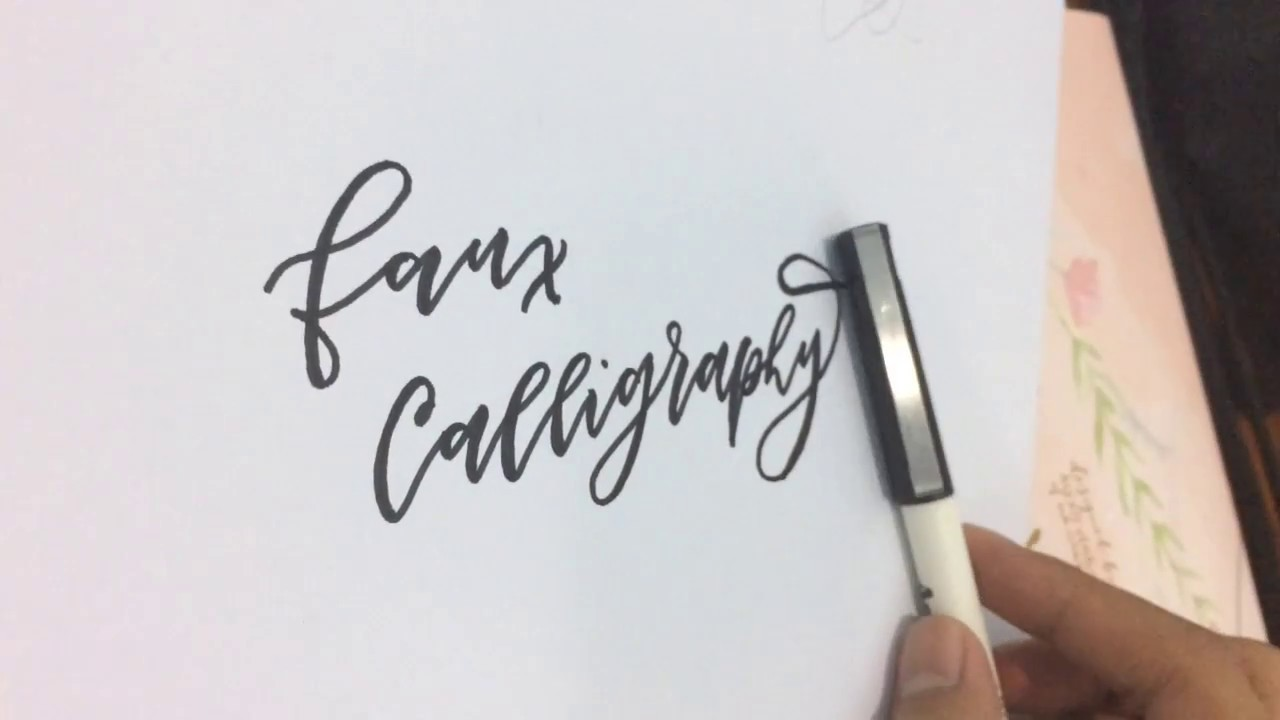 Artline Pen Faux Calligraphy Sample Lesson