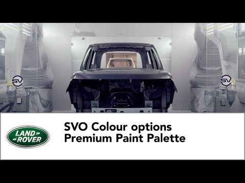 Land Rover - Premium Paint Palette by Special Vehicle Operations
