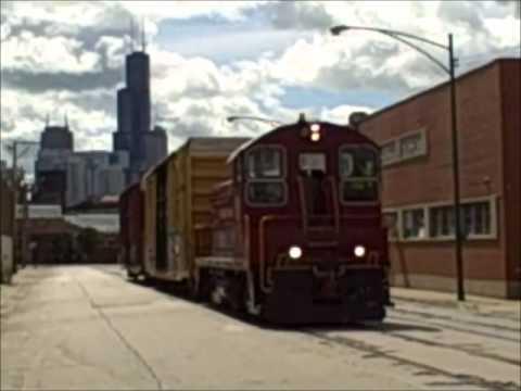 Chicago Terminal Railroad around Goose Island,~Chicago 8/13/2013