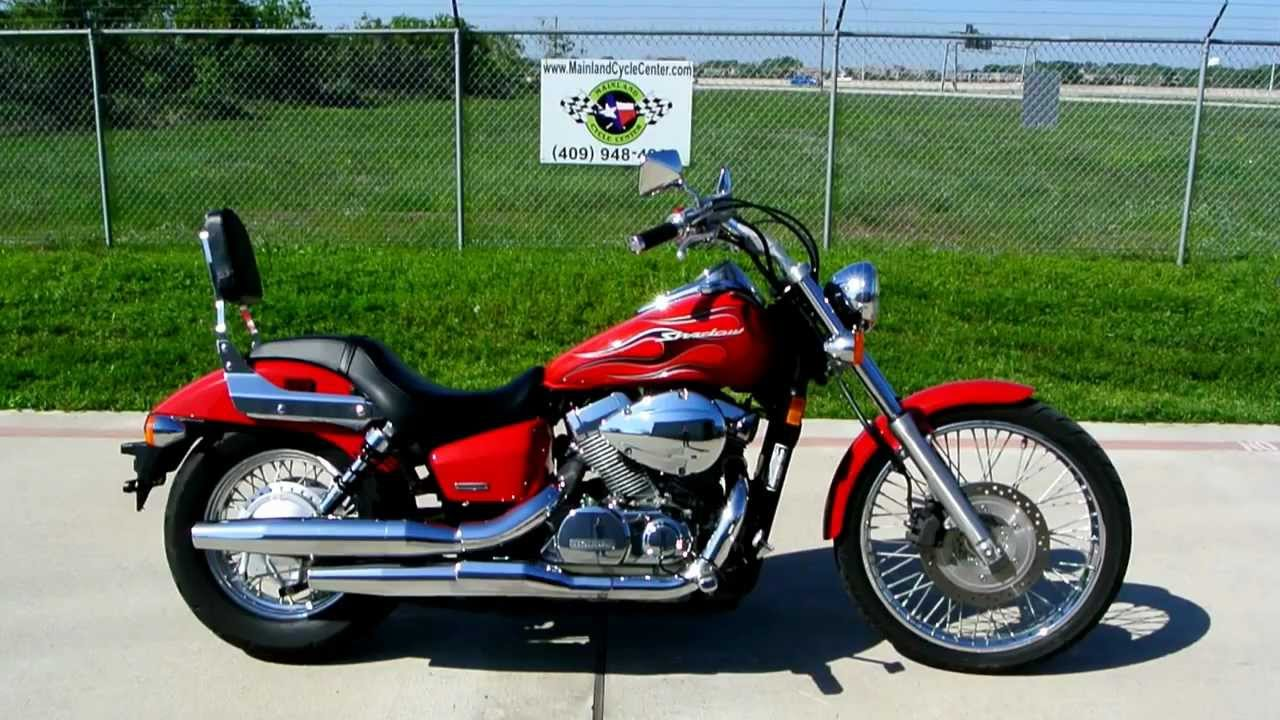 Review: 2007 Honda Shadow 750 Spirit Red With Flame Graphics   YouTube