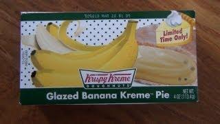 Krispy Kreme's Glazed Banana Kreme Pie