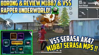 SUPER  OVER POWER!! BORONG & REVIEW SKIN M1887 & VSS RAPPER UNDERWORLD TERBARU!! - Garena Free Fire