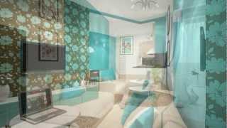 Дизайн-проект 1-комнатной квартиры 45,9 кв.м. ЖК Гринвилл(, 2013-02-13T06:51:46.000Z)