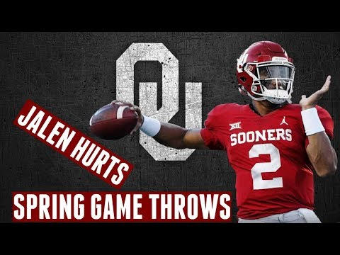 38992903 Every throw and run Jalen Hurts made in OU football spring game - YouTube
