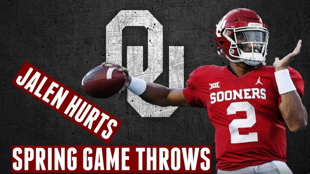 2c6d5e30 Every throw and run Jalen Hurts made in OU football spring game ...