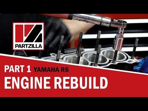 yamaha r6 engine rebuild part 1: bottom end to piston install |  partzilla com