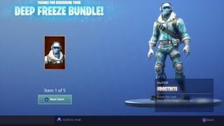 Nouveau Fortnite Skin Frostbite Out! (Deep Freeze Bundle)