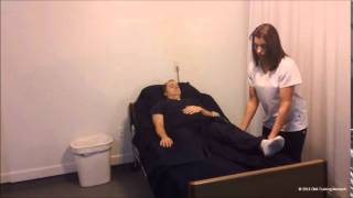 Provide resident with passive range of motion ROM exercises to one hip, knee and ankle