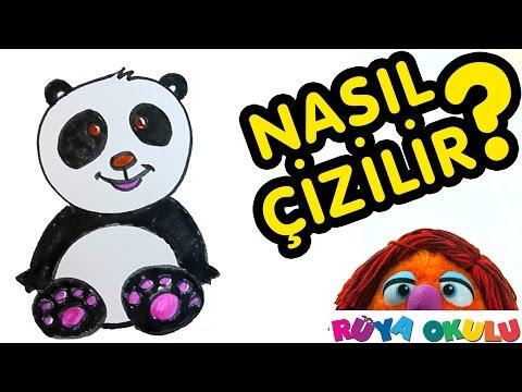 Nasıl Çizilir? - Panda - Çocuklar İçin Resim Çizme - RÜYA OKULU