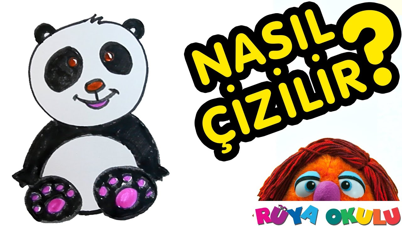 Nasil Cizilir Panda Cocuklar Icin Resim Cizme Ruya Okulu