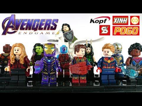 All Female Superheroes Avengers Endgame Battle Scene Unofficial Lego Minifigure