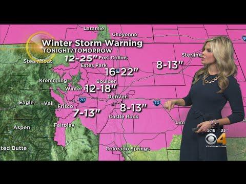 Major Snow Hitting Colorado Tonight