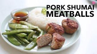 Pork Shumai Meatballs ♥ Home Chef | Angel Wong's Kitchen