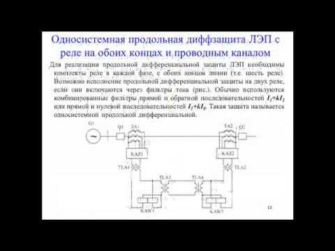 7.  Дифференциальные защиты ЛЭП (1 семестр)
