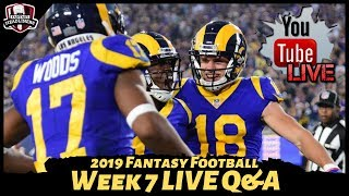 2019 Fantasy Football Advice - LIVE QampA Answering Your Week 7 Fantasy Football Questions