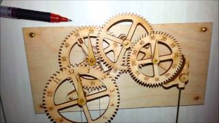 """Clayton Boyer's """"genesis"""" Wooden Gear Clock - A """"little"""" Different Than Most"""