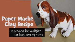 Paper Mache Clay - It's Perfect Every Time With a Kitchen Scale