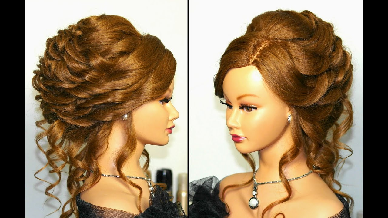 romantic bridal, wedding hairstyle for long hair. tutorial - youtube