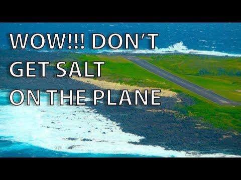 EPIC Flying! GIANT WAVES ON FINAL, ACTIVE VOLCANO... Hawaiian Cirrus SR22 Adventure