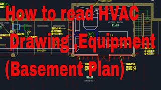 HVAC - How to read HVAC Basic Drawing and Equipment (basement Plan) in  English - YouTube | Hvac Drawing Reading |  | YouTube
