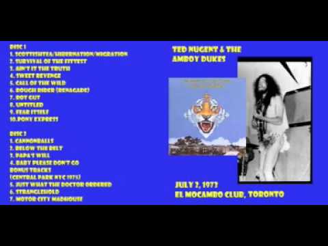 Ted Nugent & The Amboy Dukes, live at El Mocambo Club, Toronto, 02 July 1973. Complete show