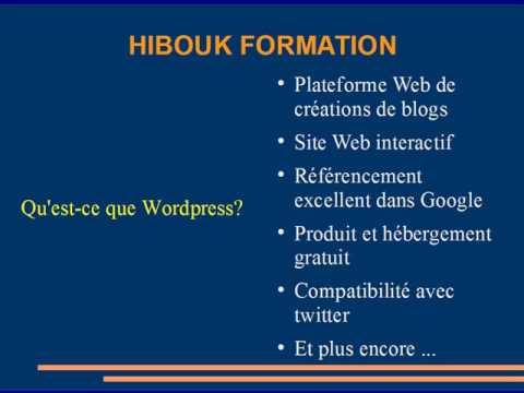 Formation vid o wordpress pour cr er un site web gratuit for Site web gratuit