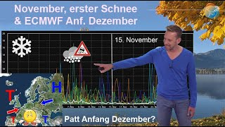 Wie entwickelt sich der November? SchneeWahrscheinlichkeit & Wetterlage nach ECMWF Anfang Dezember!