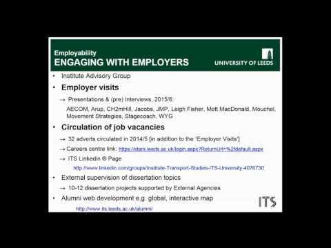 Masters Degrees in Transport - webinar on graduate employability