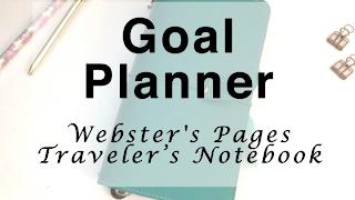 Yukarı hedef Planlayıcı - Webster Sayfaları Gezgin Notebook Ayarlayın