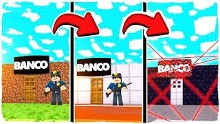 🤘 DE BANCO NOOB A BANCO MÁS SEGURO DE MINECRAFT ¡NADIE PODRÁ ROBAR EN ESE BANCO!