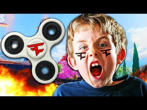 FAKE FAZE MEMBER BREAKS HIS FIDGET SPINNER IN 1V1! (Black Ops 3 Trolling)