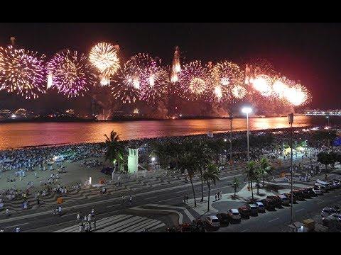 Happy New Year 2019 Fireworks Rio De Janeiro Dubai Bangkok Youtube