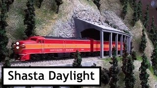 Southern Pacific Railroad in the Cascades - Shasta Daylight  Enroute to San Francisco