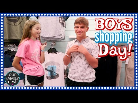 THE BOYS GO BACK TO SCHOOL SHOPPING & CHASE'S COMEDY SKIT!