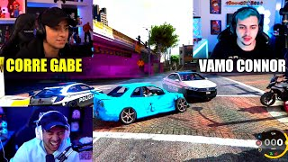 GABE CJ E CONNOR DANDO A FUGA MAIS EMOCIONANTE DO GTA !!!