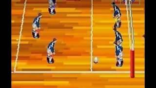 バレーボール Twin (Volleyball Twin) - INTRO - GAMEPLAY - SNES - SUPER FAMICOM - 1992