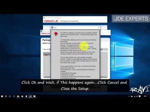 Determining if database is running - Error -  Solution | JDE 9.1/9.2 (DEMO) Installation