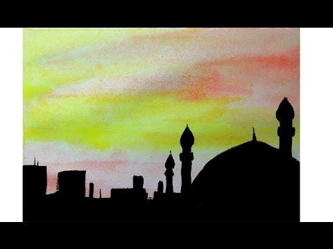 Cara Menggambar Siluet Masjid Mudah By Nove Hasanah