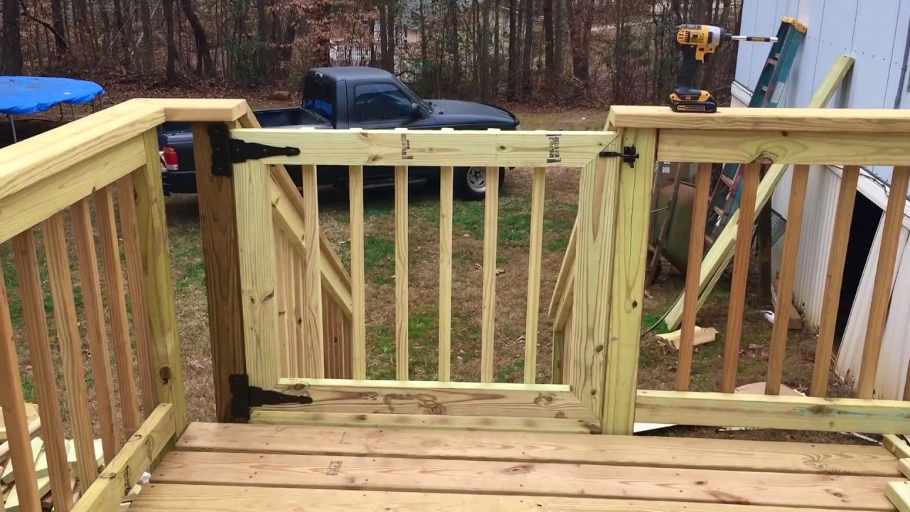 How to build a Deck Gate - YouTube