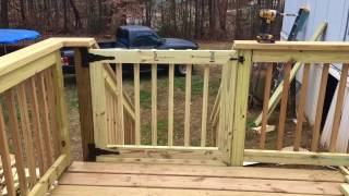 In this video I show how to build a simple deck gate to keep those small critters in or out . If you have any questions about any