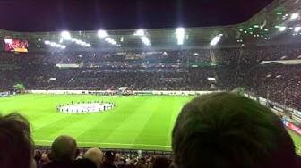 M'Gladbach vs. Juventus Turin 1:1 CL Hymne Schnipsel Choreo vor dem Spiel