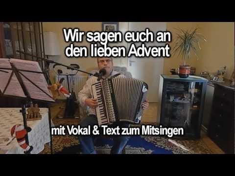 Chords For Wir Sagen Euch An Den Lieben Advent Mit Vokal
