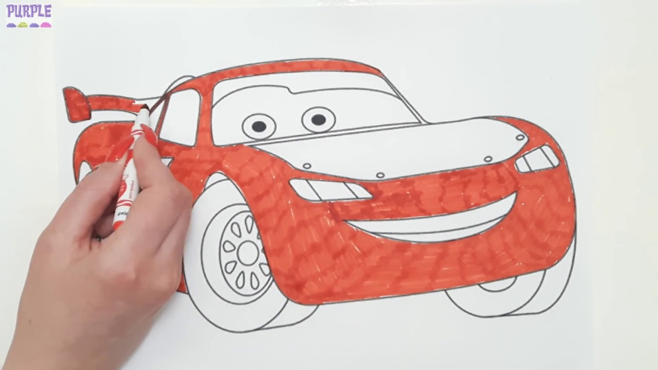 learning colors with cars 3 lightning mcqueen coloring page teach